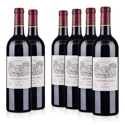 (列级庄·名庄·副牌)法国拉菲酒庄2012干红葡萄酒750ml(6瓶装)(又译:小拉菲)