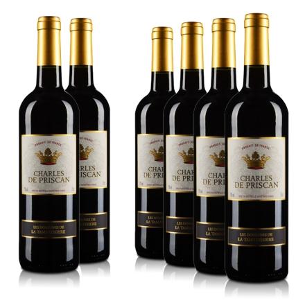 法国查尔斯红葡萄酒750ml(6瓶装)