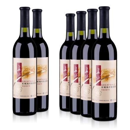 12.5°长城红色庄园干红葡萄酒750ml(6瓶装)