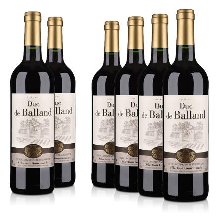 法国巴朗德公爵干红葡萄酒750ml(6瓶装)