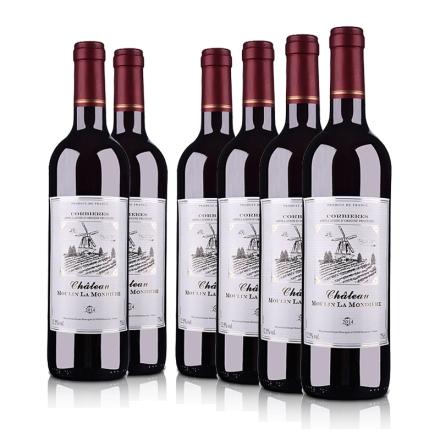 法国蒙迪红磨坊酒庄干红葡萄酒(6瓶装)