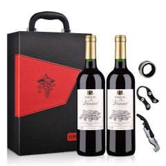 法国富乐男爵干红葡萄酒750ml(双支礼盒装)