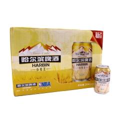 哈尔滨啤酒小麦王拉罐330ml(24瓶装)