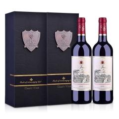 法国进口红酒 莫奈庄园干红葡萄酒750ml 双支红酒礼盒