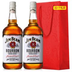 40°白占边JIM BEAM波本威士忌700/750ml(2瓶装)